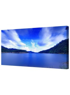 Calming Quiet Sea View Framed Canvas Wall Art Picture