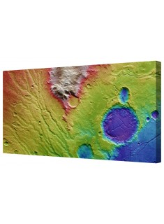 Martian Landscape Framed Canvas Wall Art Picture