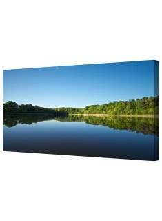 Waterside Landscape Framed Canvas Wall Art Picture