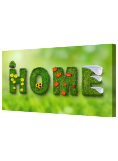 """Seasons Look """"Home"""" Sign Framed Canvas Wall Art Picture"""