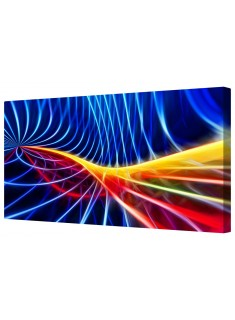 Abstract Colourful Wave Pattern Framed Canvas Wall Art Picture