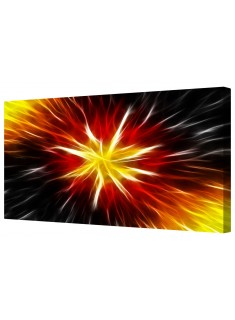 Abstract Sun Rays Star Pattern Framed Canvas Wall Art Picture