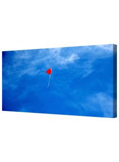 Red Love Heart Balloon Framed Canvas Wall Art Picture