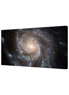 Messier Pinwheel Galaxy Space Spiral Framed Canvas Wall Art Picture