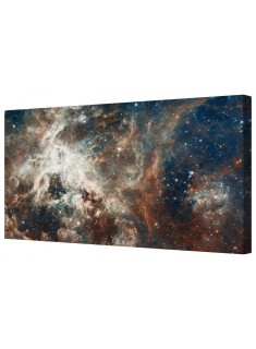 Space Galaxy Star Nebula Framed Canvas Wall Art Picture