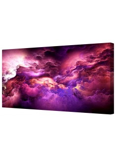 Space Galaxy Purple Fantasy Framed Canvas Wall Art Picture