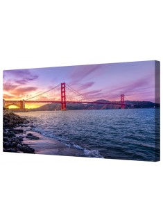 Golden Gate Bridge San Francisco Framed Canvas Wall Art Picture