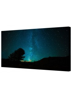Star Filled Clear Night Sky Framed Canvas Wall Art Picture