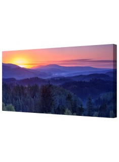 Blue Ridge Pine Mountains Canvas Wall Art Picture