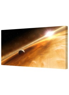 Planet Rings & Sun Framed Canvas Wall Art Picture