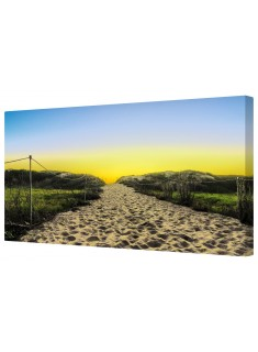 Sandy Path Sunrise Framed Canvas Wall Art Picture