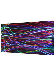 Abstract Light Lines Framed Canvas Wall Art Picture